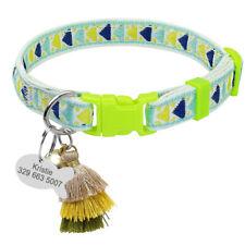 1.0cm Ancho Personalizado Personalizado Collar para gatos con Campana anti pérdida Kitty Campana de Etiqueta de identificación