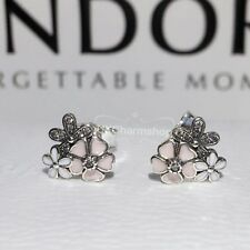 New Genuine Pandora Poetic Blooms Stud Earrings S925 With Gift Pouch 290686ENM