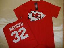 """0112 MENS Kansas City Chiefs TYRANN MATHIEU """"Eligible Receiver"""" Jersey Shirt RED"""