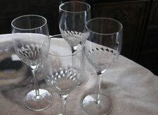 Orrefors Perlude Water goblets Lot of 4 Very pretty 8 1/4  h FREE SHIP!!