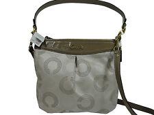 "COACH ~ ""Ashley"" ~ Dotted OP Art Hippie Handbag ~ Khaki & Taupe ~ #F20088 ~ NWT"