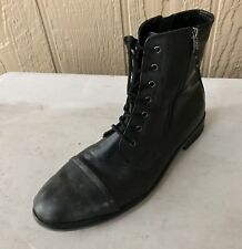 NEW KENNETH COLE Lace-Up Leather Boot SIZE 11.5 - Hipster Cool