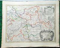 XVII ème - Allemagne - Archeveché de Treves Belle Carte par Jaillot 63x52 - 1700