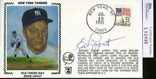 ED LOPAT JSA AUTHENTICATED SIGNED 1985 FDC AUTOGRAPH