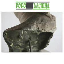 Antica scultura in bronzo e marmo Dea Bendata firmata