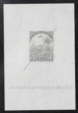 Liberia # 21 NH Defaced Sunken Proof on Paper in Gray (NG As Always)