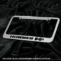 New chrome plated Hummer H2 words license plate frame front rear