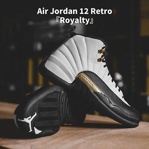 Nike Air Jordan 12 Retro AJ12 Royalty Taxi White Black Gold Men Shoes CT8013-170