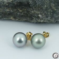 ASYMMETRICAL Genuine Tahitian South Sea Pearls Classic Stud Earrings #SE277