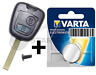 Schlüssel Gehäuse + Batterie  für Peugeot Citroen 307 107 207 C1 C2 C3  Aygo