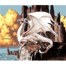 Paint By Number Kit Proud Dragon Rocks Coloring DIY Picture 40x50cm Canvas Décor
