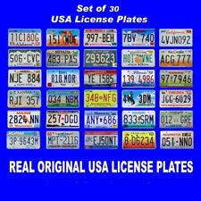 SET OF 30 UNITED STATES LICENSE PLATES LOT TAG ORIGINAL USA AMERICAN CAR BEST 1