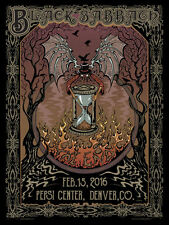 BLACK SABBATH The End 2016 Pepsi Center - Denver 18x24 Gig Poster by Mike Dubois