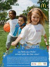Publicité Advertising 2011  MAC DONALD  les petits jeux