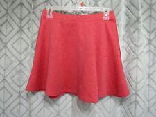 Aeropostale Skirt Size M Red Short Elastic Waist Floral Casual School