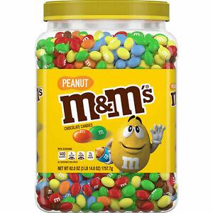 M&M's Milk Chocolate Pearnut Candies Jar (62.0 OZ)