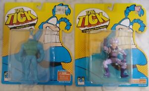 ⭐️ THE TICK Action Figures - BOUNDING TICK, SEWER SPRAY SEWER URCHIN ⭐