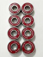 16x Roller Skate Supreme Red Abec-9 Wheel bearings inline rolleblade hockey 8mm