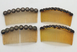Vintage Mexico ?? Sterling Silver ?? 2 Hair Combs Metal