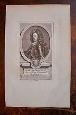 HENRI DE HARCOURT DUC ET PAIR DE FRANCE . PORTRAIT, GRAVURE ORIGINALE , 1760