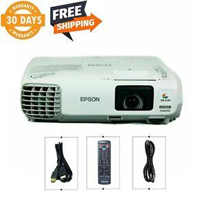 Refurbished Epson PowerLite 99W Tri-LCD Projector 3000 ANSI HD 1080i HDMI bundle