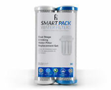 Dual Stage Drinking Water Filter Replacement Set, filters VOC Mercury Lead Cysts