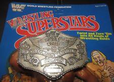 "LJN WWF Wrestling Superstars Heavy Weight ""GOLD""Champ Belt Buckle""mail away""moc"