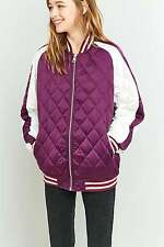 Urban Outfitters Light Before Dark Quilted Baseball Bomber Jacket - Purple - M