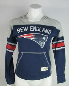 New England Patriots NFL Outerstuff Women's Graphic Hooded Long Sleeve