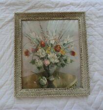 "Vernon Ward Print ""Spring Grouping""Original Frame.Under Glass"