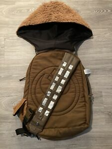 Star Wars Chewbacca backpack With Detachable Hoodie RARE Disney BACK TO SCHOOL!