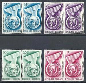 Togo 1962 Sc# 417-20 set Astronauts Shepard and Gagarin pairs MNH