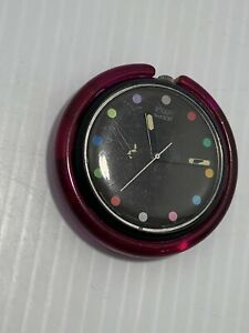 """POP SWATCH Watch """"Parade"""" PWBB121 1991 Polka Dots No Band Works New Battery"""