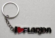 I HEART FLORIDA Silver Tone Metal KEY CHAIN Ring Keychain NEW