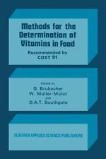 Methods for the Determination of Vitamins in Food : Recommended by COST 91...