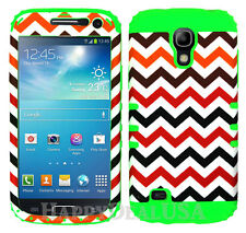 KoolKase Hybrid Silicone Cover Case for Samsung Galaxy S4 Mini - Chevron Wave 03