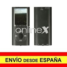Reproductor Digital MP3/MP4 LCD Aluminio EBOOK / FM Multifunción Negro a3090