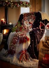 Christmas Snowman Luxury Supersoft Fleece Throw 130 X 170cm
