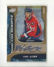 2009-10 UD Trilogy Young Star Scripts Karl Alzner AUTOGRAPH Capitals