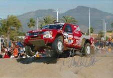 Ari Vatanen Hand Signed 12x8 Photo Nissan Dakar Rally 1.