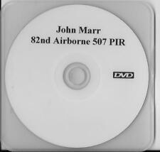 JOHN MARR 82ND AIRBORNE 507 PIR D-DAY& LA FIERE VETERAN RARE INTERVIEW DVD