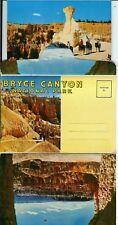 Bryce Canyon National Park MInt Souvenir Postcard Folder 1940s?? + Extra Cards
