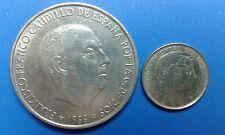 MONEDA  DE PLATA  URUGUAY 20 CENT. 0.720/1000 AÑO: 1942 + 100 PTAS. 1966. *66