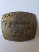 Coliseum Video 1991 WWF ROYAL RUMBLE January 19th WRESTLING SOUVENIR Medal No. 1
