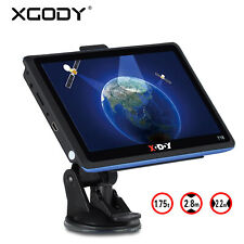 "Xgody 8gb 7"" Touch Screen car GPS Sat Nav Navigation Système FM Mp3 Navigator FR"