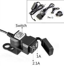Wasserdicht USB 3.1A 12V Motorrad Lenker Ladegerät Steckdose Schalter Halterung