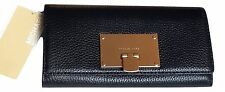 MICHAEL Michael Kors Channing Carryall Black Genuine Leather Clutch Wallet NWT