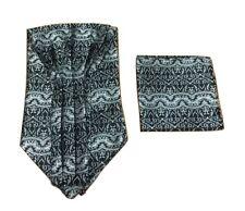 motivo Cachemira Corbata Ascot & bolsillo cuadrado Floral Pañuelo Boda GB