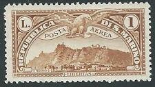 1931 SAN MARINO POSTA AEREA VEDUTA 1 LIRA MH * - M1-6