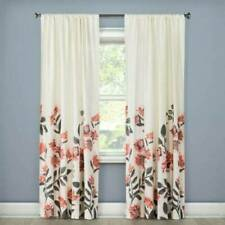 "THRESHOLD Climbing Floral Window Curtains Panel Coral 54""x84"" NWOP"